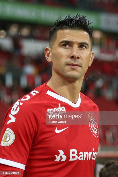 Victor Cuesta of Internacional looks on before the match Internacional v Sao Paulo as part of Brasileirao Series A 2019 at BeiraRio Stadium on...