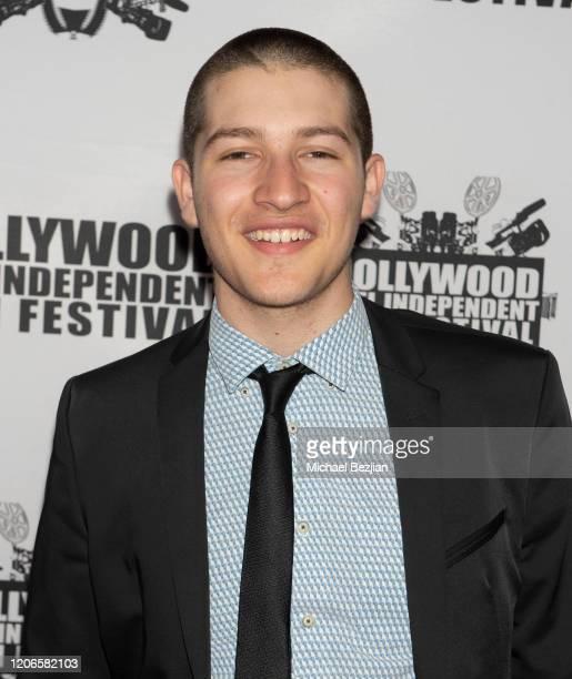 Victor Daniel Cardenas arrives at A Dark Foe Film Premiere on February 15 2020 in Los Angeles California