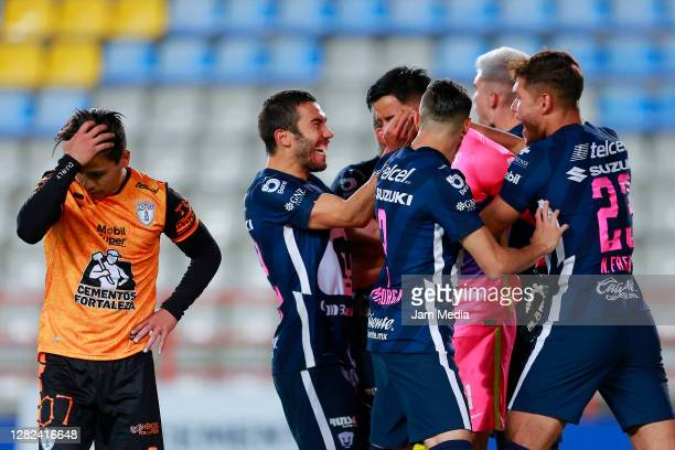 Victor Davila of Pachuca reacts during the 15th round match between Pachuca and Pumas UNAM as part of the Torneo Guard1anes 2020 Liga MX at Hidalgo...