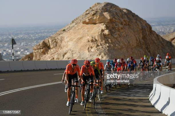 Victor De La Parte of Spain and CCC Team / Francisco Jose Ventoso Alberdi of Spain and CCC Team / Peloton / during the 6th UAE Tour 2020, Stage 3 a...
