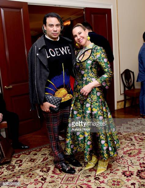 Victor dE Souza and Alyson Cafiero pose at Jean Shafiroff's Annual Cocktail Party at a at Private Residence on February 27 2018 in New York City