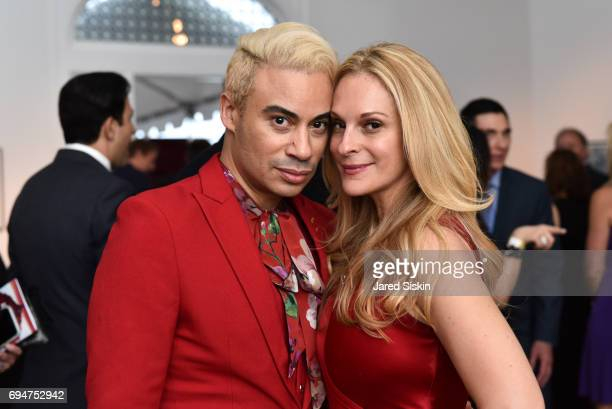 Victor De Souza and Consuelo Vanderbilt Costin attend the 21st Annual Hamptons Heart Ball at Southampton Arts Center on June 10 2017 in Southampton...
