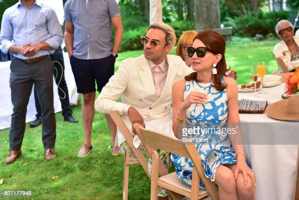 Victor dE Souza and Jean Shafiroff attend UNCF VIP Brunch hosted by Cochairs Jean Shafiroff William Pickens III and Paula Taylor at Private Residence...