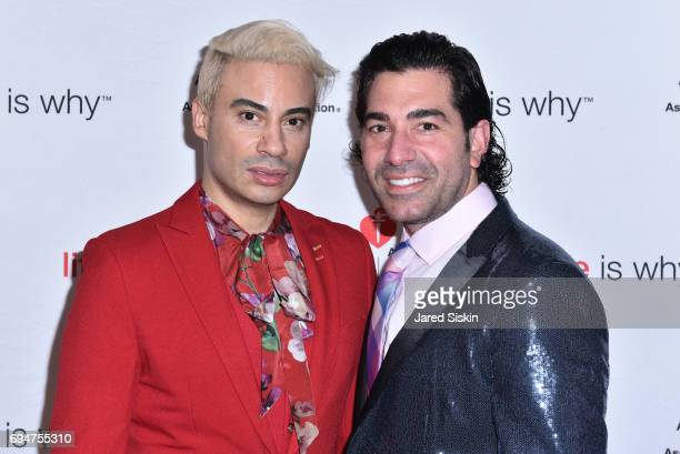 Victor De Souza and Mark Missone attend the 21st Annual Hamptons Heart Ball at Southampton Arts Center on June 10 2017 in Southampton New York