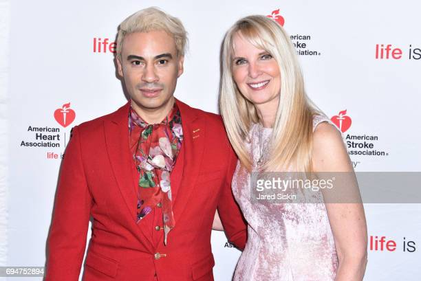 Victor De Souza and Sara HerbertGalloway attend the 21st Annual Hamptons Heart Ball at Southampton Arts Center on June 10 2017 in Southampton New York