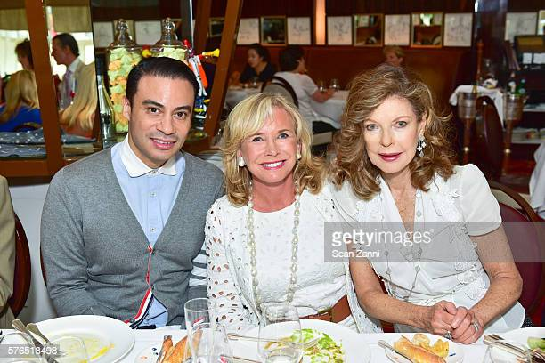 Victor De Souza Sharon Bush and Margo Langenberg attend Bastille Day Party Hosted by Jean Shafiroff at Le Cirque on July 14 2016 in New York City
