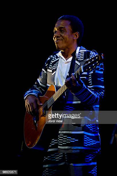 Victor Deme performs on stage at Teatre Zorrilla on April 17 2010 in Badalona Spain