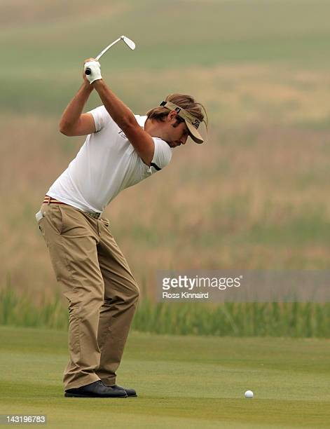 Victor Dubisson Gonnet of France during the third round of the Volvo China Open at the Binhai Lake Golf Course on April 21 2012 in Tianjin China