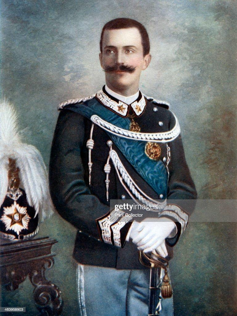 Victor Emmanuel III, King of Italy, late 19th-early 20th century.Artist: Giacomo Brogi : Fotografía de noticias