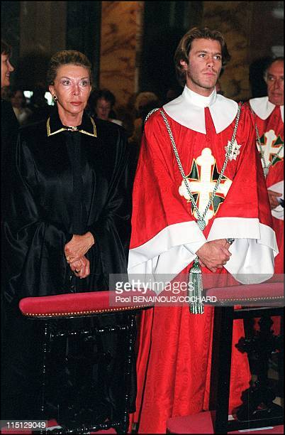 Victor Emmanuel of Savoy, his wife Marina and their son Emmanuel Philibert attend the Jubilee Pilgrimage commemorating Saints Maurice and Lazarus in...
