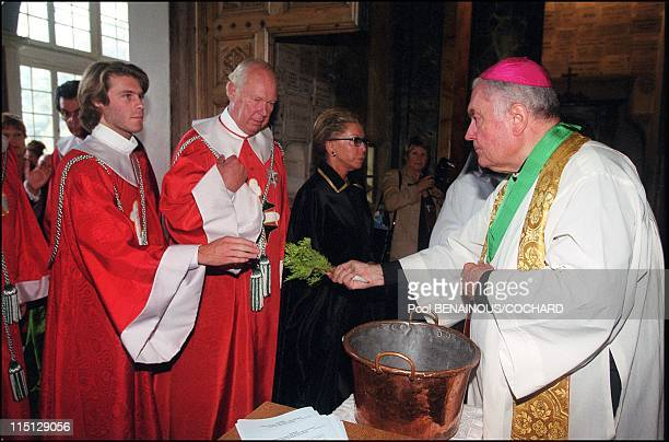 Victor Emmanuel of Savoy his wife Marina and their son Emmanuel Philibert attend the Jubilee Pilgrimage commemorating Saints Maurice and Lazarus in...