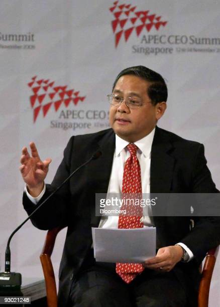 Victor Fung chairman of Li Fung Distribution Ltd and chairman of the International Chamber of Commerce speaks at the AsiaPacific Economic Cooperation...
