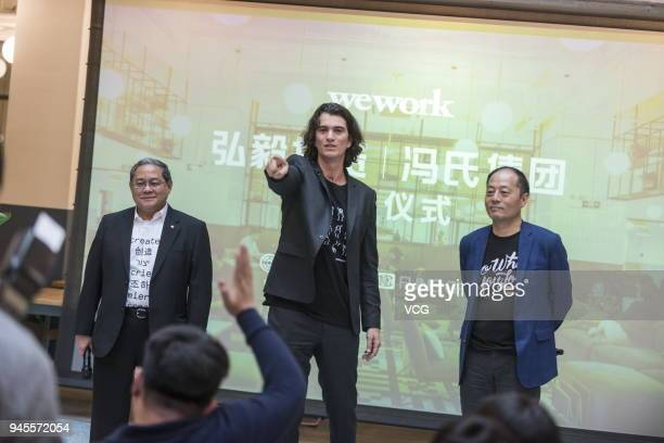 Victor Fung Kwokking chairman of Fung Group Adam Neumann cofounder and chief executive officer of WeWork John Zhao chief executive officer of Hony...