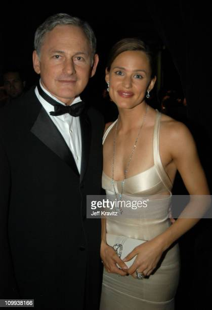 Victor Garber and Jennifer Garner during 55th Annual Primetime Emmy Awards Backstage and Audience at The Shrine Auditorium in Los Angeles California...
