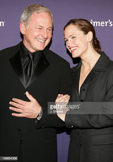 Victor Garber and Jennifer Garner during The Alzheimer's Association's 13th Annual A Night At Sardi's Celebrity Fundraiser Arrivals at The Beverly...