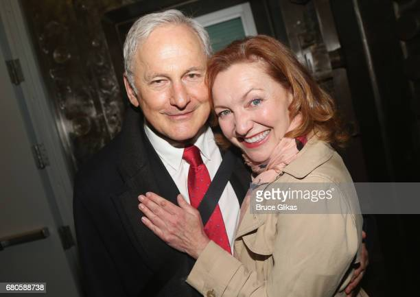 Victor Garber and Julie White pose at An American Daughter Benefit Reading at The Tony Kiser Second Stage Theatre on May 8 2017 in New York City