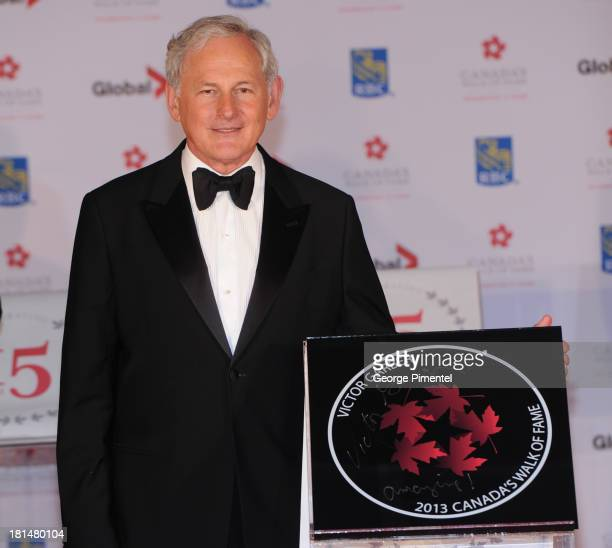 Victor Garber attends Canada's Walk Of Fame Ceremony at The Elgin on September 21 2013 in Toronto Canada