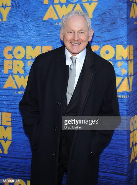 Victor Garber attends the 'Come From Away' Broadway Opening Night Arrivals Curtain Call at Gerald Schoenfeld Theatre on March 12 2017 in New York City