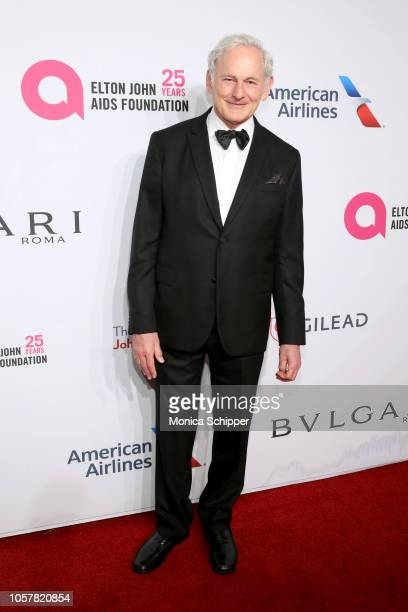 Victor Garber attends the Elton John AIDS Foundation's 17th Annual An Enduring Vision Benefit at Cipriani 42nd Street on November 5 2018 in New York...