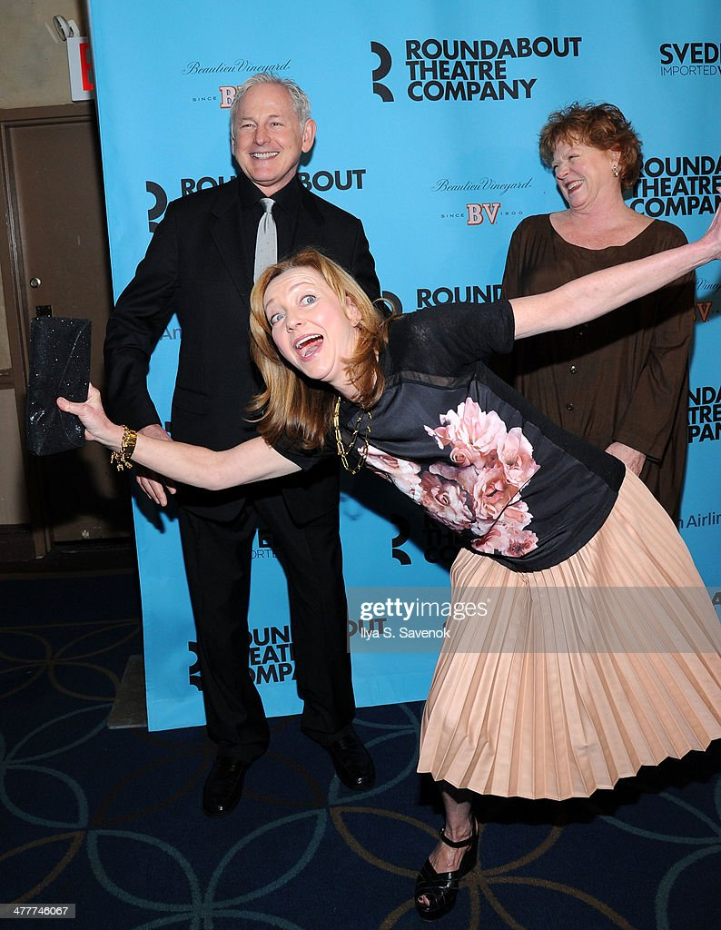 Victor Garber, Becky Ann Baker and Julie White attend Roundabout Theatre Company's 2014 Spring Gala at Hammerstein Ballroom on March 10, 2014 in New York City.