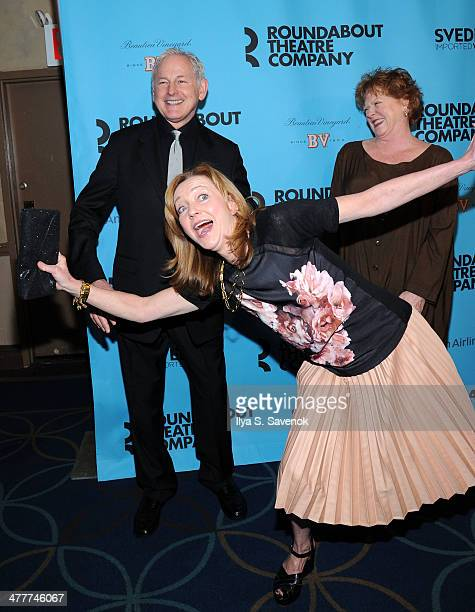 Victor Garber Becky Ann Baker and Julie White attend Roundabout Theatre Company's 2014 Spring Gala at Hammerstein Ballroom on March 10 2014 in New...