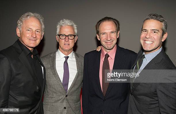 Victor Garber John Slattery Ralph Fiennes and Andy Cohen attend Dinner And Auction Benefiting Friends In Deed at Stephan Weiss Studio on October 6...