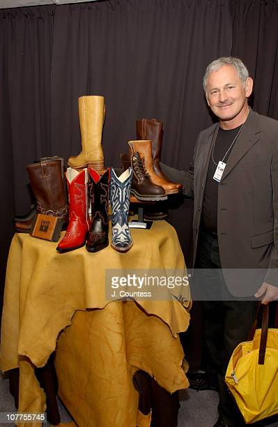Victor Garber with boots by the Frye Company during 58th Annual Tony Awards On 3 Productions Gift Lounge at Radio City Music Hall in New York City...