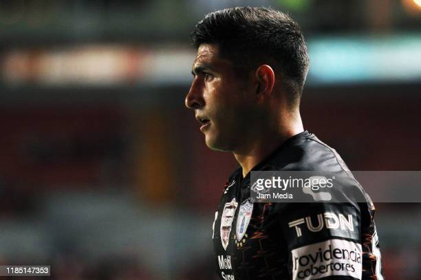 Victor Guzman of Pachuca looks on during the 17th round match between Necaxa v Pachuca as part of the Torneo Apertura 2019 Liga MX at Victoria...