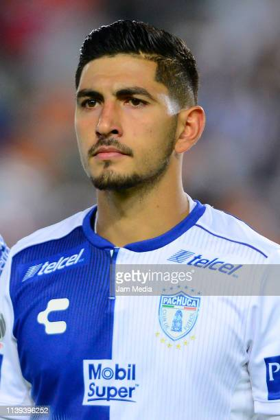 Victor Guzman of Pachuca prior the 12th round matvh between Pachuca and Toluca as part of the Torneo Clausura 2019 Liga MX at Hidalgo Stadium on...