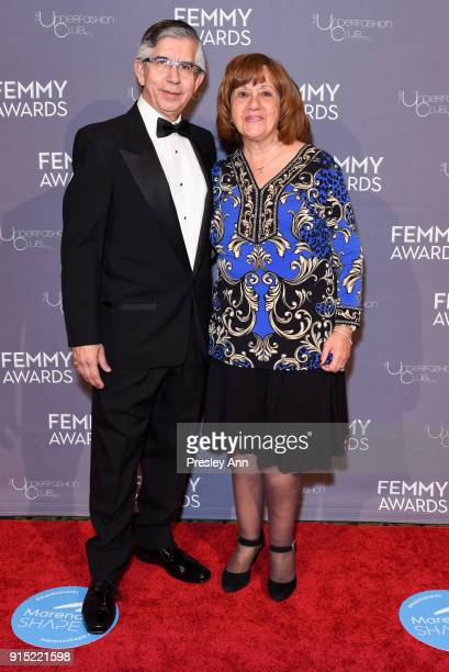 Victor H Vega and Angela Vega attend 2018 Femmy Awards hosted by Dita Von Teese on February 6 2018 in New York City