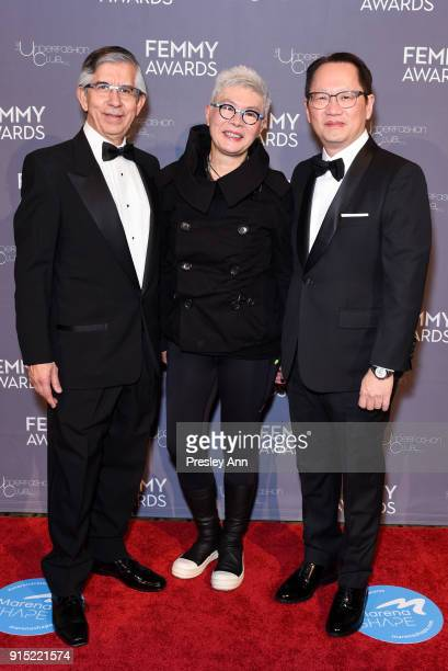 Victor H Vega Angie Lau and Tommy Fung attend 2018 Femmy Awards hosted by Dita Von Teese on February 6 2018 in New York City