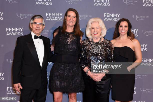 Victor H Vega Marybeth Moser Ann Deal and Heather Fryxell attend 2018 Femmy Awards hosted by Dita Von Teese on February 6 2018 in New York City