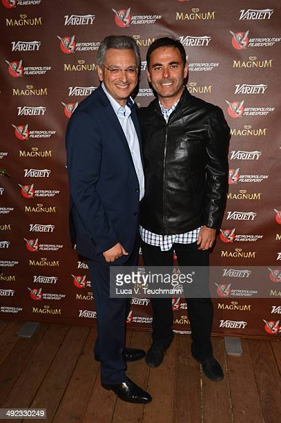 Victor Hadida and Pamir Demirtas attend the Metropolitan Filmexport 35th Anniversary Party at Magnum Beach on May 19 2014 in Cannes France