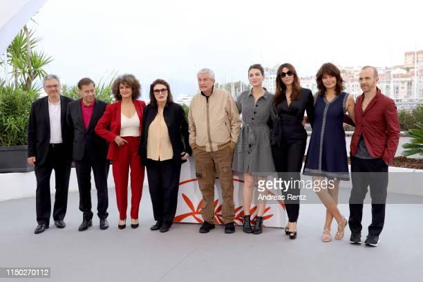 Victor Hadida, Antoine Sire, Souad Amidou, Anouk Aimee, Director Claude Lelouch, Tess Lauvergne, Monica Bellucci, Marianne Denicourt and Calogero...