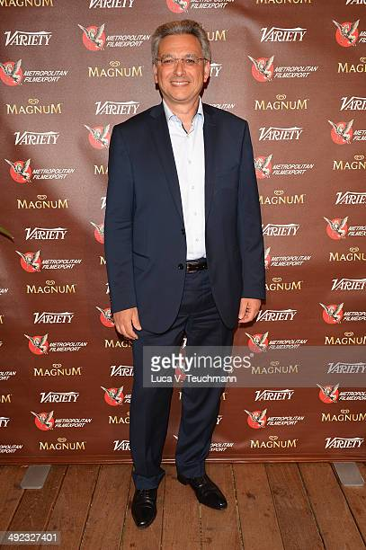 Victor Hadida attends the Metropolitan Filmexport 35th Anniversary Party at Magnum Beach on May 19 2014 in Cannes France