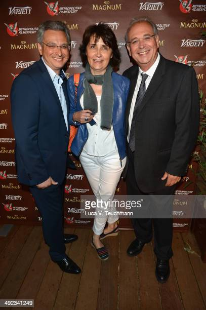 Victor Hadidaguest and Samuel Hadida attend the Metropolitan Filmexport 35th Anniversary Party at Magnum Beach on May 19 2014 in Cannes France