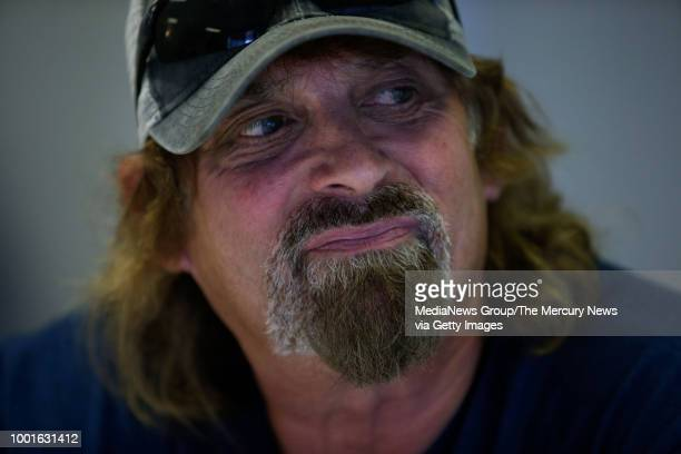 Victor Hayes a survivor of the East Area Rapist shows emotion while recounting the 1977 attack on him and his then girlfriend during an interview in...