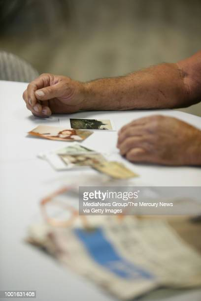 Victor Hayes a survivor of the East Area Rapist speaks during an interview with photos and newspaper clippings he brought in Carmichael Calif on...