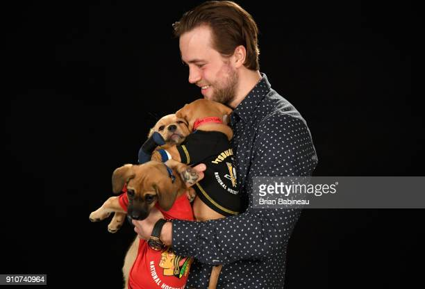 Victor Hedman of the Tampa Bay Lightning attends the Players Puppies event at the Grand Hyatt Hotel on January 26 2018 in Tampa Florida