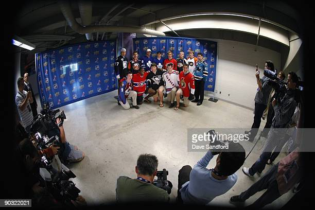 Victor Hedman of the Tampa Bay Lightning John Tavares of the New York Islanders Jonas Gustavsson of the Toronto Maple Leafs Tyler Bozak of the...