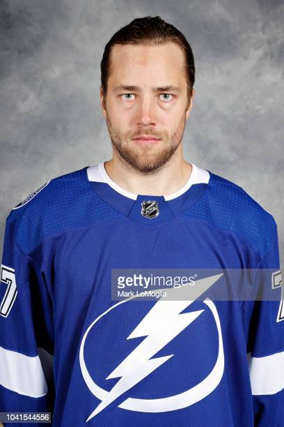 Victor Hedman of the Tampa Bay Lightning poses for his official headshot for the 20182019 season on September 13 2018 at Amalie Arena in Tampa Florida