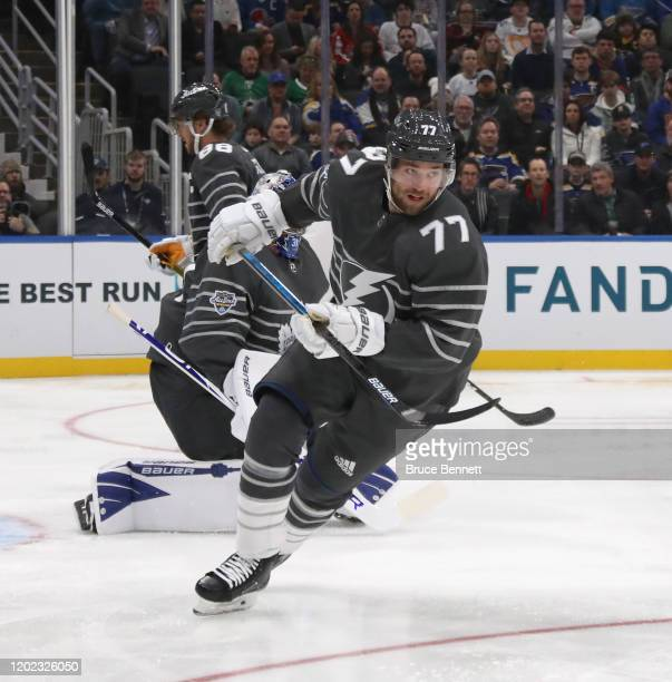 Victor Hedman of the Tampa Bay Lightning skates in the game between Metropolitan Division and Atlantic Division during the 2020 Honda NHL All-Star...
