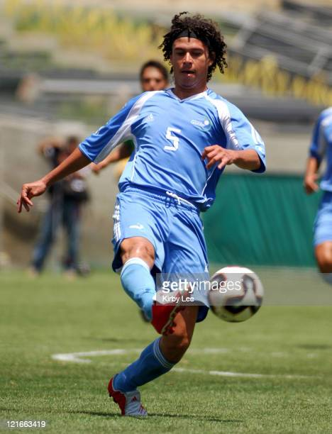 Victor Hernandez of Guatemala during 40 loss to Mexico in CONCACAF Gold Cup soccer match at the Los Angeles Memorial Coliseum on Sunday July 10 2005
