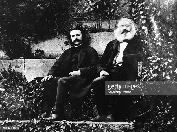Victor Hugo and son Charles circa 1870 in Guernesey United Kingdom