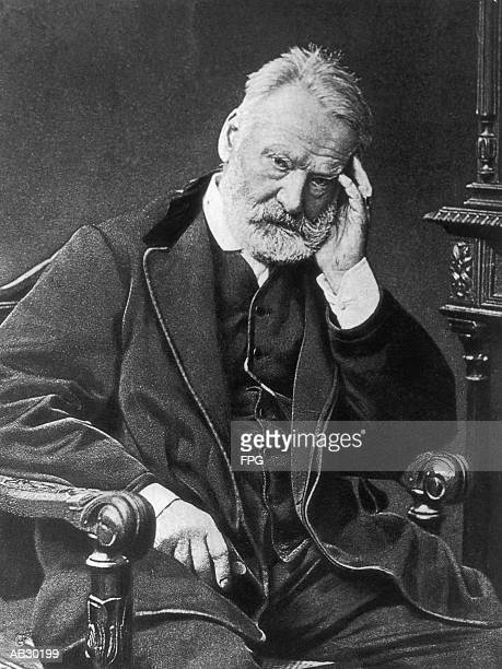 Victor Hugo (1802-85), French author (B&W)
