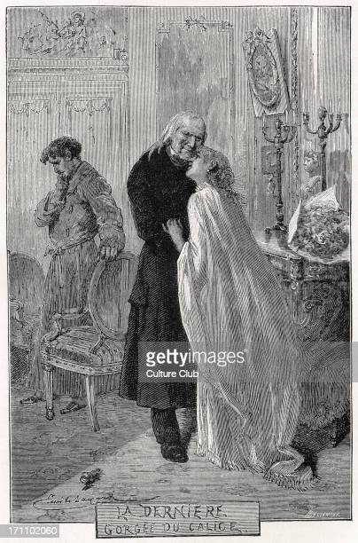 Victor Hugo Illustration for the French poet and novelist's novel 'Les Misérables' 'The Last Drop in the Cup' 26 February 1802 22 May 1885