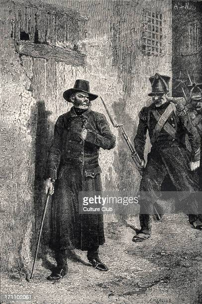Victor Hugo the French poet and novelist's novel 'Les Misérables' Illustration by Fortune Meaulle 'Javert on the hunt' 26 February 1802 22 May 1885