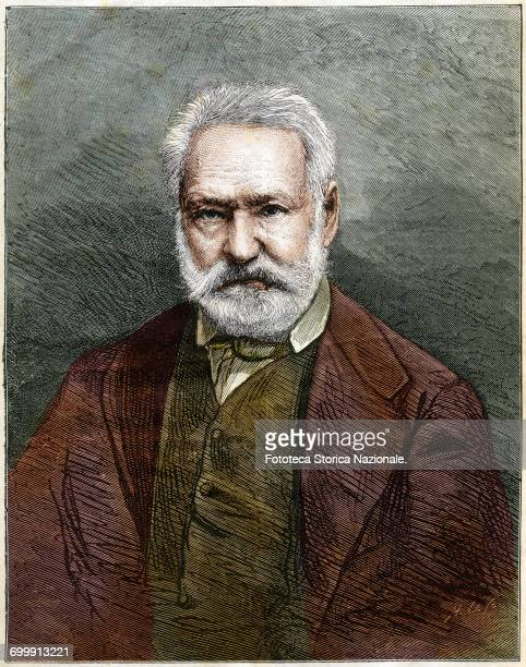 Victor Hugo writer poet playwright and French politician member of the Académie Française considered the father of Romanticism in France Portrait in...