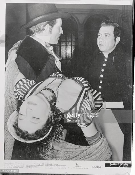 Victor Hugo's Les Miserables starring Michael Rennie, Debra Paget, Robert Newton, Edmund Gwenn. Directed by Lewis Milestone. 20th Century Fox.