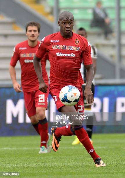 Victor Ibarbo of Cagliari Calcio in action during the Serie A match between Udinese Calcio and Cagliari Calcio at Stadio Friuli on October 6 2013 in...